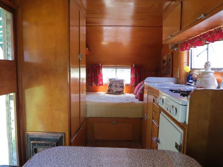 Interior 1954 Aljoa Sportsman Travel Trailer Ebay Vintage Campers Trailers Pinterest