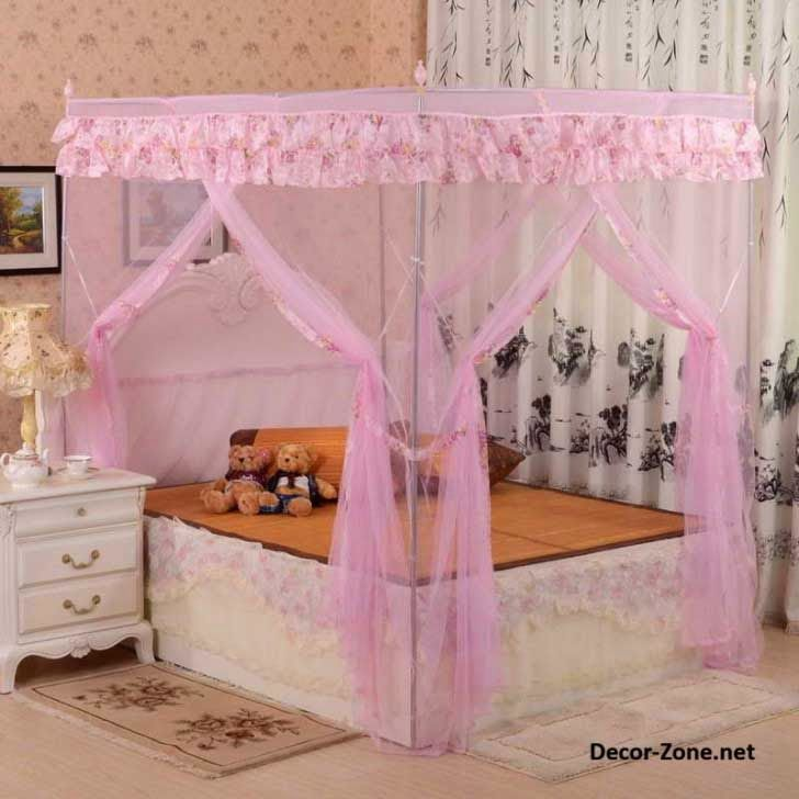 Canopy bed curtains for girl 39 s room bedroom curtain ideas kids jolie 39 s pins pinterest - Ideas for canopy bed curtains ...