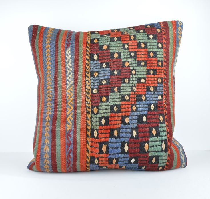 24x24'' large kilim pillow big pillow decorative pillow cover large cushion case - Pillowcases