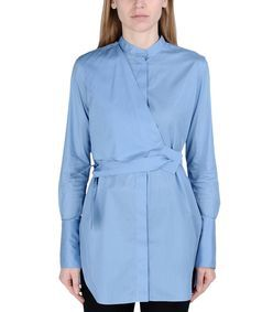 Ports 1961 Pastel Blue Wrap Shirt