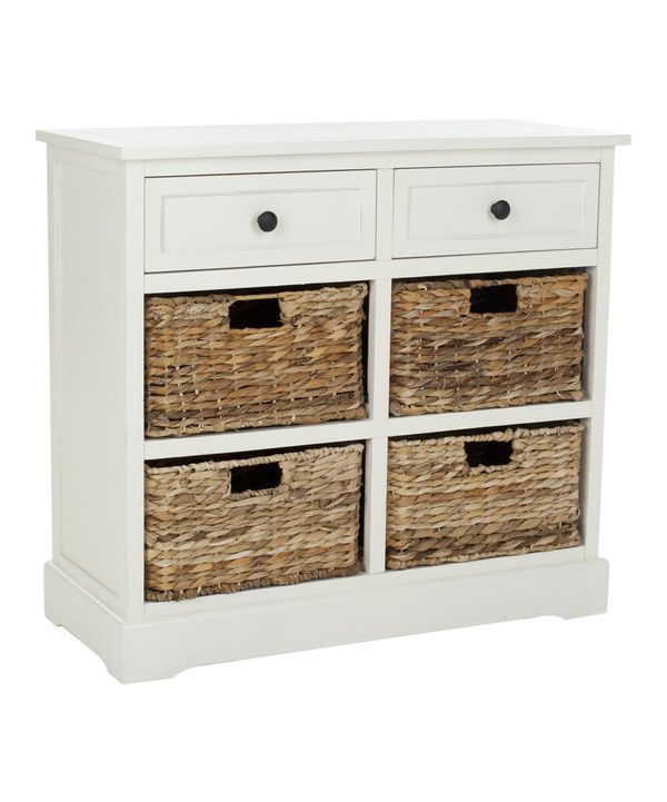 Look at this Cream Jeffy Two-Drawer Storage Unit on #zulily today!