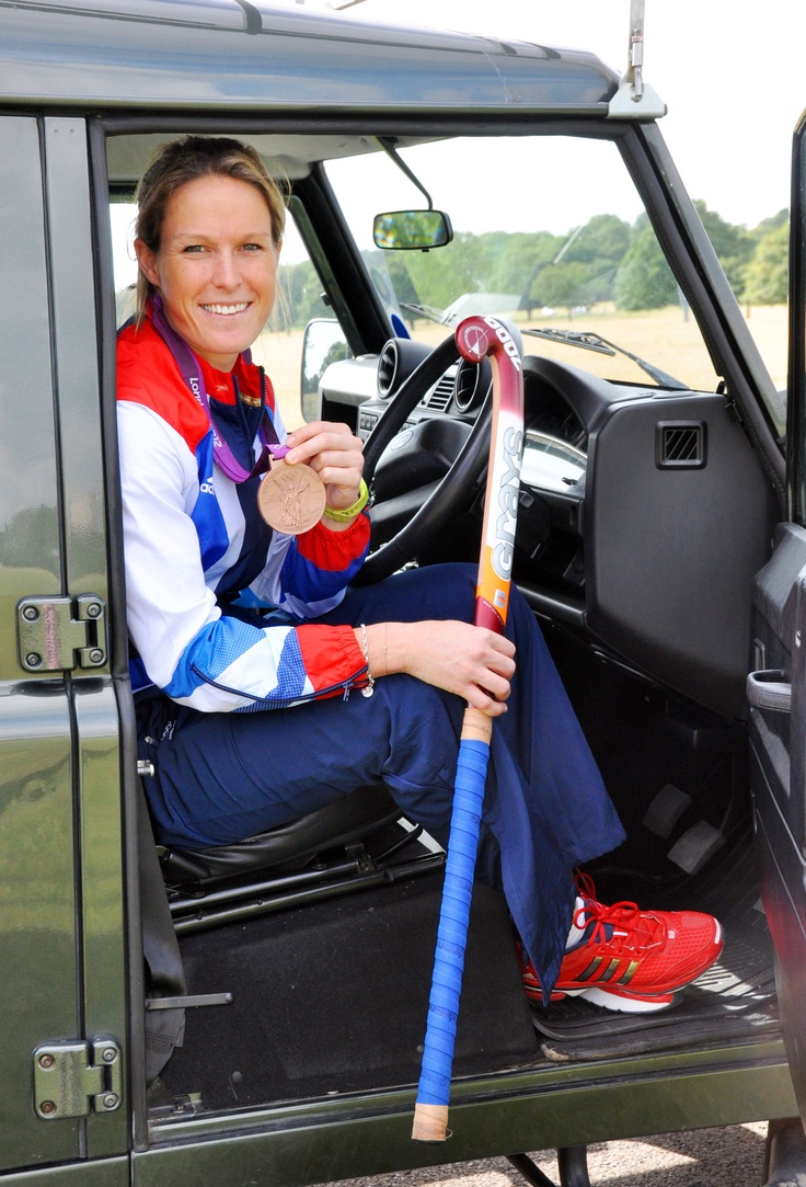 Crista Cullen, TeamGB Hockey player, turned down a BMW convertible and drives a Defender! (www.cristacullen.com)