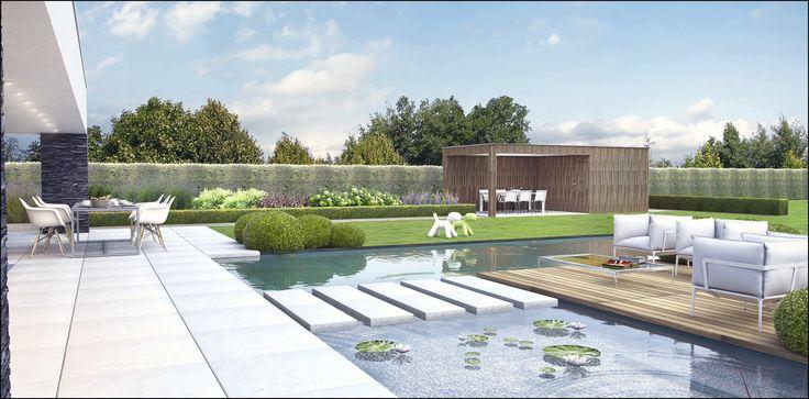 ECO Tuinarchitectengroep   3D projecten   Tuin moderne woning