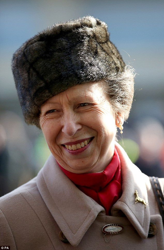 Princess Anne gave a speech before opening the five-and-a-half storey grandstand, named th...