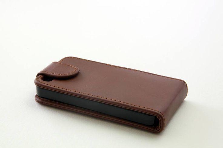Θήκη δερμάτινη flip - Καφέ (iPhone 5/5s) - myThiki.gr - Αξεσουάρ Smartphones & Tablets - Χρώμα καφέ