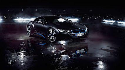 BMW i8 Matte Black HD Widescreen