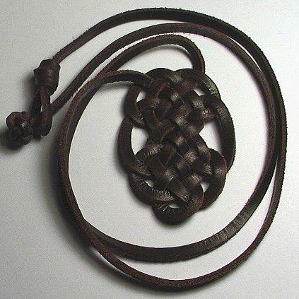 Celtic Celebration Spanish Leather Necklace