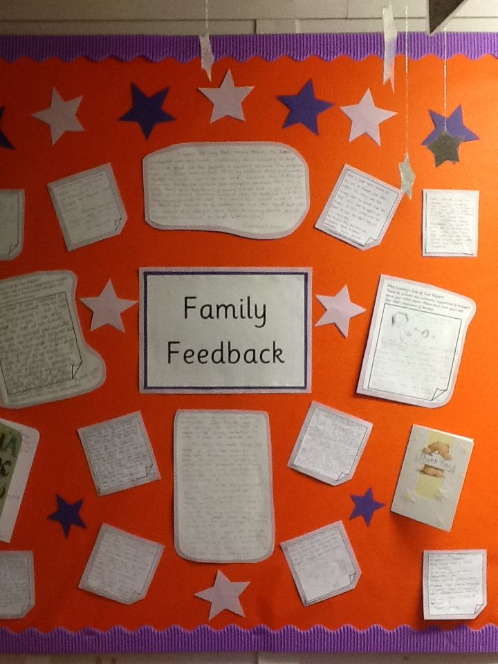 Why not brag about all the lovely feedback we got last year!! Staff have suggested we can go and read when having a 'down day'! Nice for new parents/visitors too!