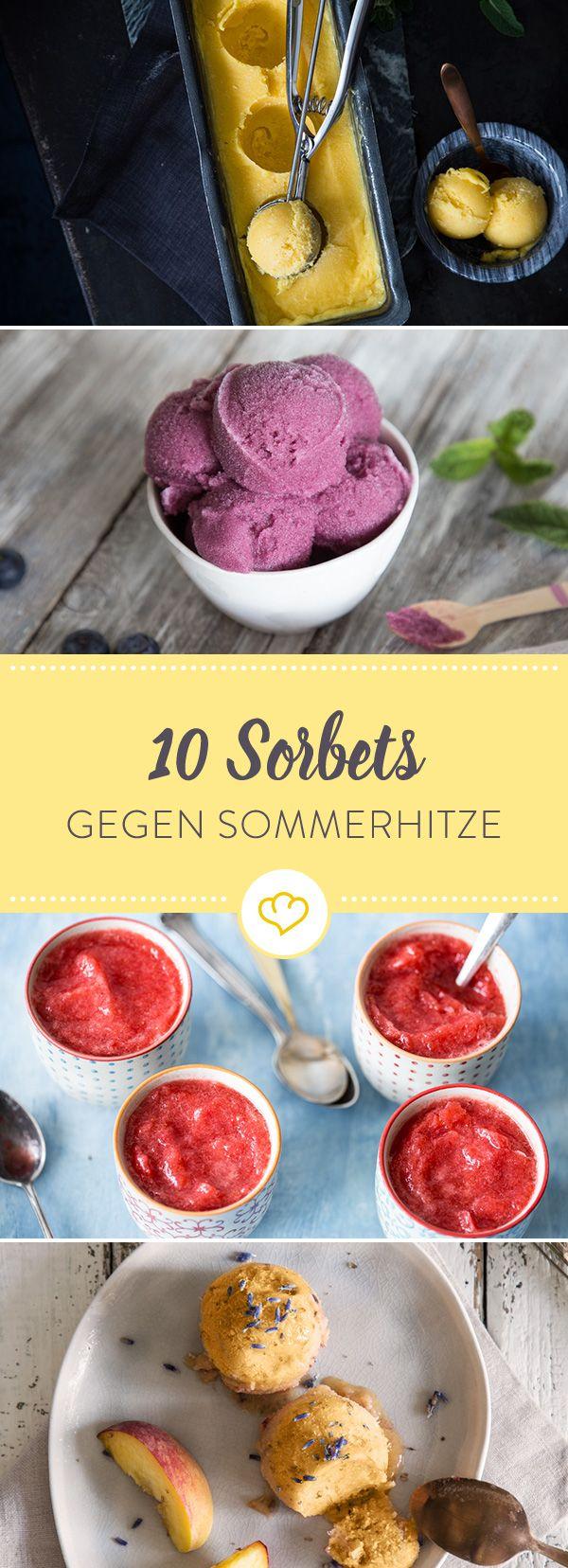 In Knallorange, Sonnengelb und Blueberry-Blau - diese 10 Sorbets verbreiten nichts als gute Laune und eiskalte Erfrischung.