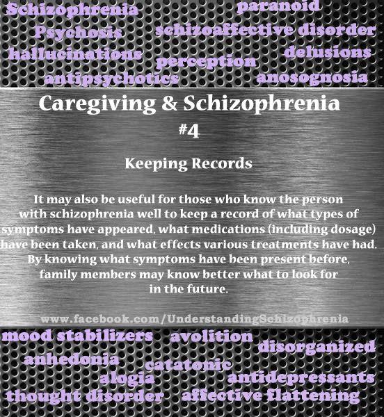 Caregiving and schizophrenia--Keeping good records