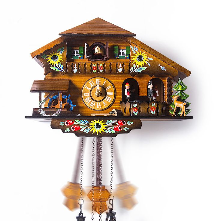 Fashion wall  rustic cuckoo clock photoswitchable music fashion timekeeping clock and watch for kids birthday present gifts