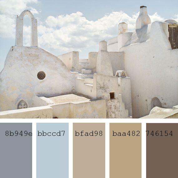 Paletas de color: tonos costeros | Adarve Photocollage