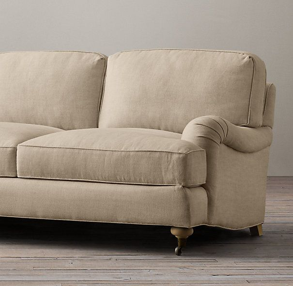 Restoration hardware 84quot english roll arm upholstered sofa for Restoration hardware sectional sofa sale