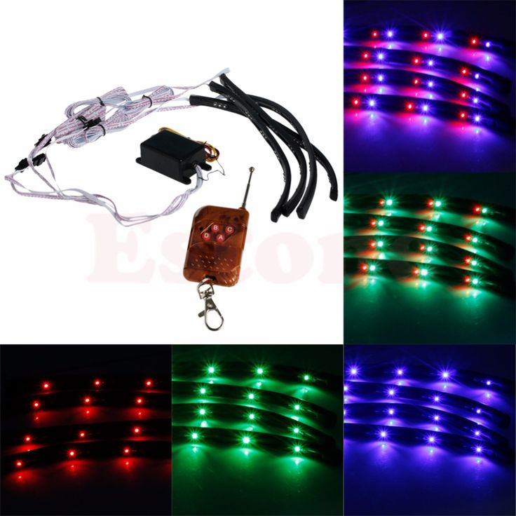 Perfect  Color LED Strip Under Car Tube Underglow Underbody Glow System Neon Lights Kit Wide Angle