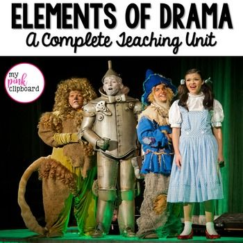 Great unit for teaching the drama unit! Easy-to-use teaching powerpoint featuring colorful photographs. Foldables and other resources for interactive notebooks. Task cards, graphic organizers, and more for small groups, centers, and guided lessons. Perfect for your classroom, library, homeschool, or drama club!
