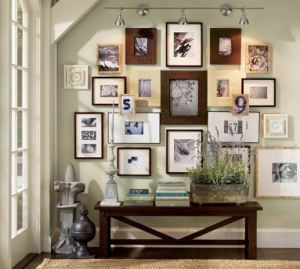 17 best images about photo frame walls on pinterest photo walls picture walls and corner wall
