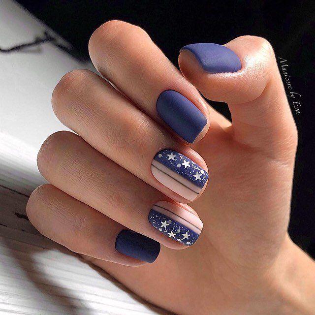 Gestreifte Manikure 50 Der Stilvollsten Designoptionen Fur 2019 Blue Nail Art Designs Cute Nail Art Designs Blue Nail Art