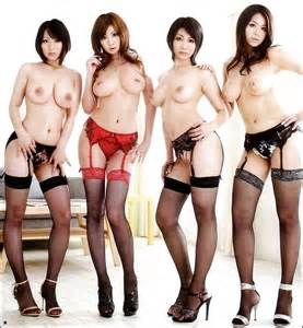 Group asian nude japanese girls