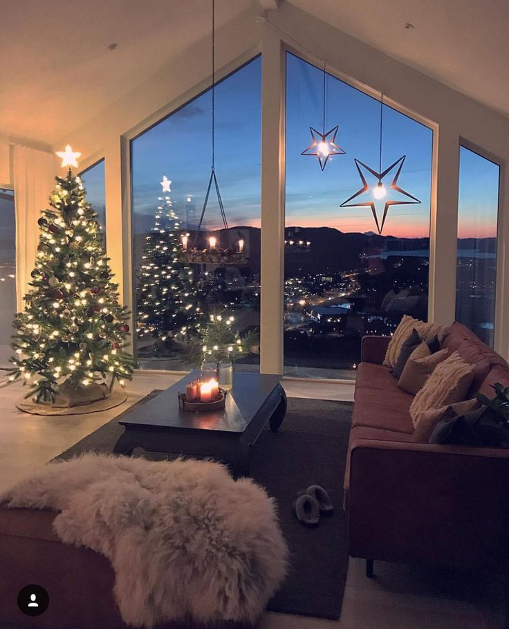 Living Room Design-Weihnachten – Balkon Deko Ideen