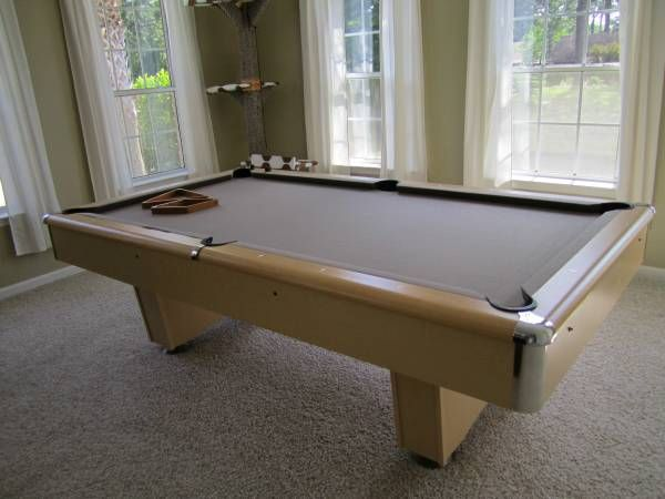 8 Ft Addison Slate Pool Table With Premium Billiard Kit. Manufactured By  The C.L. Bailey