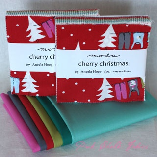 Charming Solids Pack - Aneela Hoey Cherry Christmas