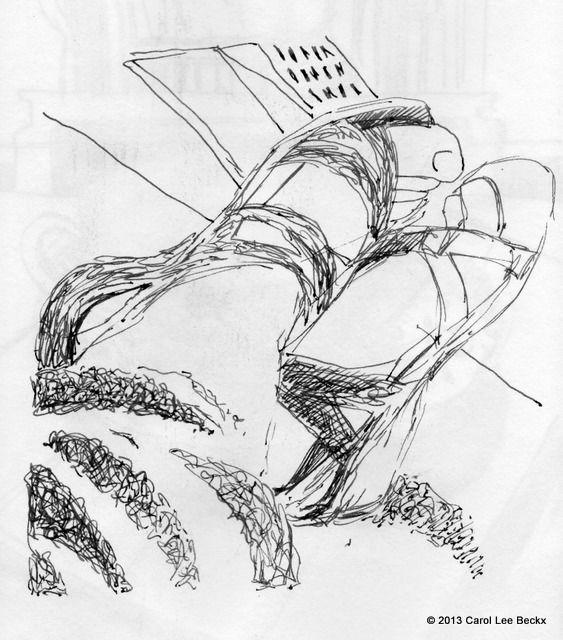 My shoes, ink in Alpha Sketchbook.