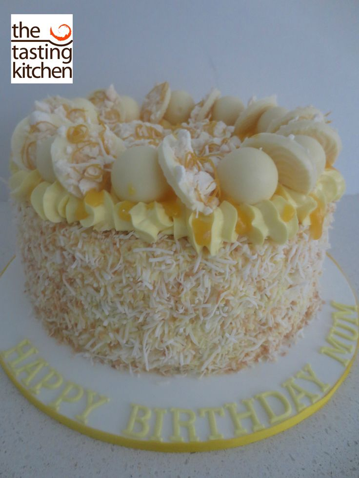 Lemon Birthday Cake with Lemon Curd