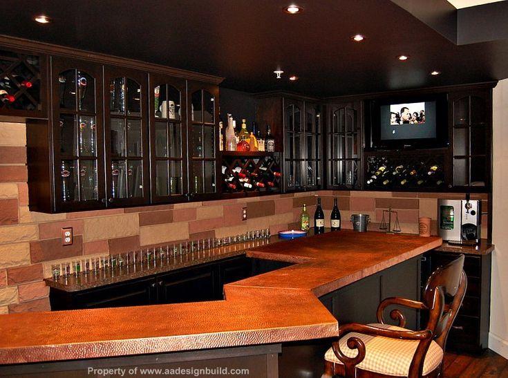 Basement Home Theater Bar