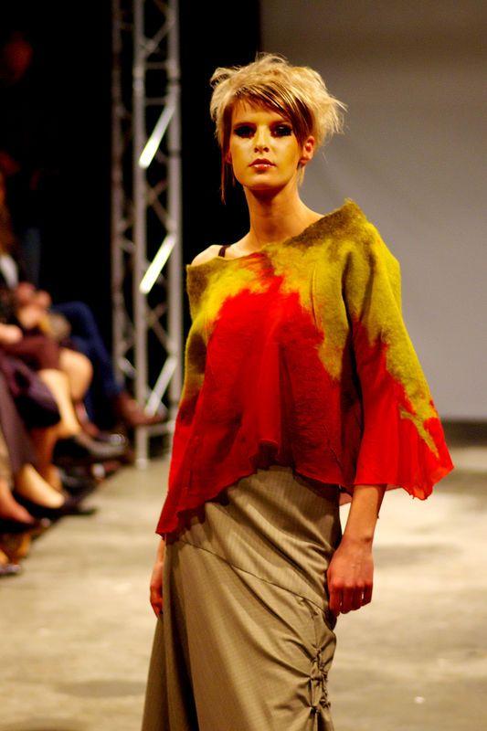 Bleu Lichen et Feutreries...Nathalie Banos ull kläder