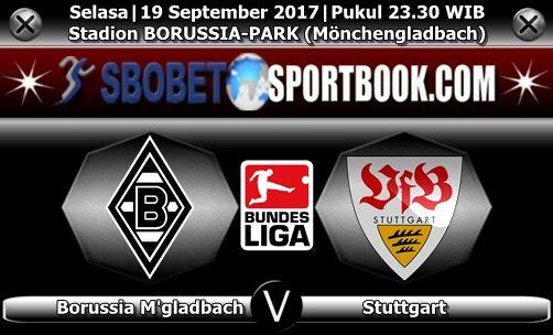 Sbobetsportbook.com - Pertandingan di laga Bundesliga yang kini telah memasuki pekan ke5 pada laga malam nanti yang akan mempertemukan tim tuan rumah Borussia M'gladbach dijadwalkan berhadapan dengan tim Stuttgart di Stadion im BORUSSIA-PARK (Mönchengladbach) Selasa, 19 September 2017 pukul 23.30 WIB.