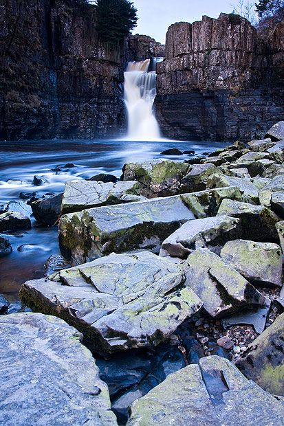 High Force falls, Durham      Found on the River Tees, High Force stands at 71ft tall and can be easily     reached from the nearby Bowlees Visitor Centre, near Middleton-in-Teesdale.     The Pennine Way National Trail passes the falls on its 268-mile journey     across Northern England.