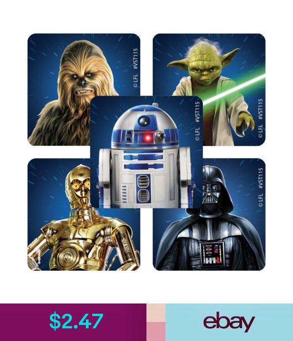 20 Star Wars Classic  Stickers Party Favors Teacher Supply  Yoda Darth Vadar