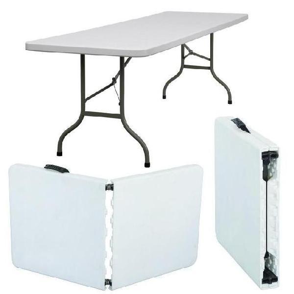 طاولة كبيرة متنقله اصبح بامكانك الذهاب لأي منطقه دون اي مشكله يمكن نقلها لأي مكان تستوعب اكثر من 8 اشخاص متجر لق Trestle Table Table Folded Up