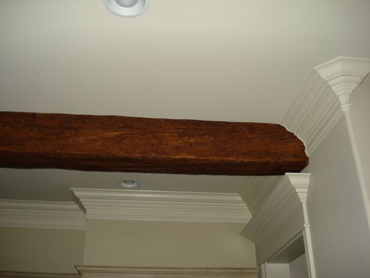Faux Beam Into Crown Moldings A Way To Disguise Piping