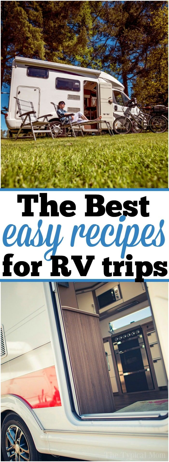 If you travel a lot like we do you need a few easy RV meals to prepare when you're camping or on a road trip! RV meal planning is here to make it easier.  via @thetypicalmom