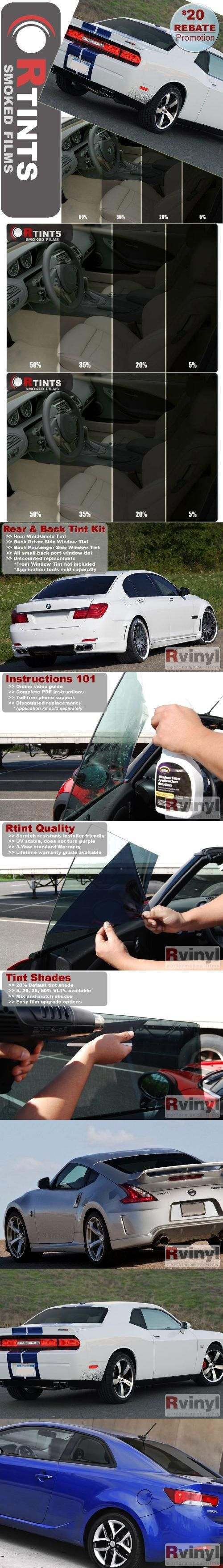 Back & Rear Glass Window Tint Kit - Dodge Shadow 4 Door Hatchback 1990 1991 1992 1993 1994 - 5% Back & Rear Windshield Back & Rear pre-cut window tint kit (back door & rear windshield) for your vehicle made by Rtint.. 100 Percent Satisfaction Guarantee, 5 year warranty, window tint kit for your car, truck or SUV.. Step by step video installation application guide online. Toll free phone support pr... #Rtint #Automotive_Parts_and_Accessories