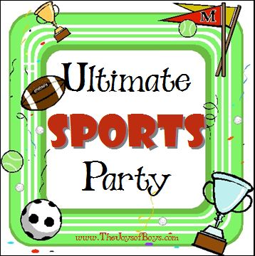 Little sports fan having a birthday? This Ultimate Sports Party Theme is perfect for any little one who loves to get out and play!