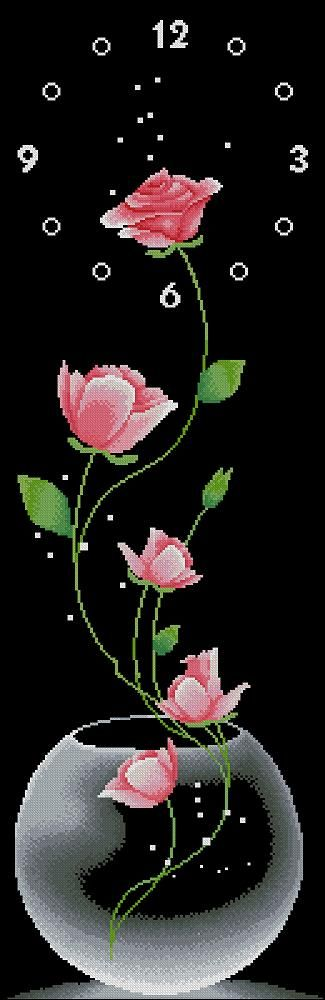 Free cross-stitch pattern for watches-Roses | Cross-Stitch Club