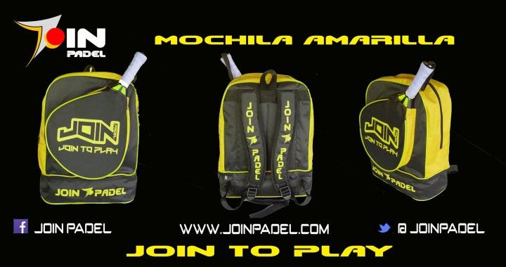 MOCHILA JOIN PADEL AMARILLA 2