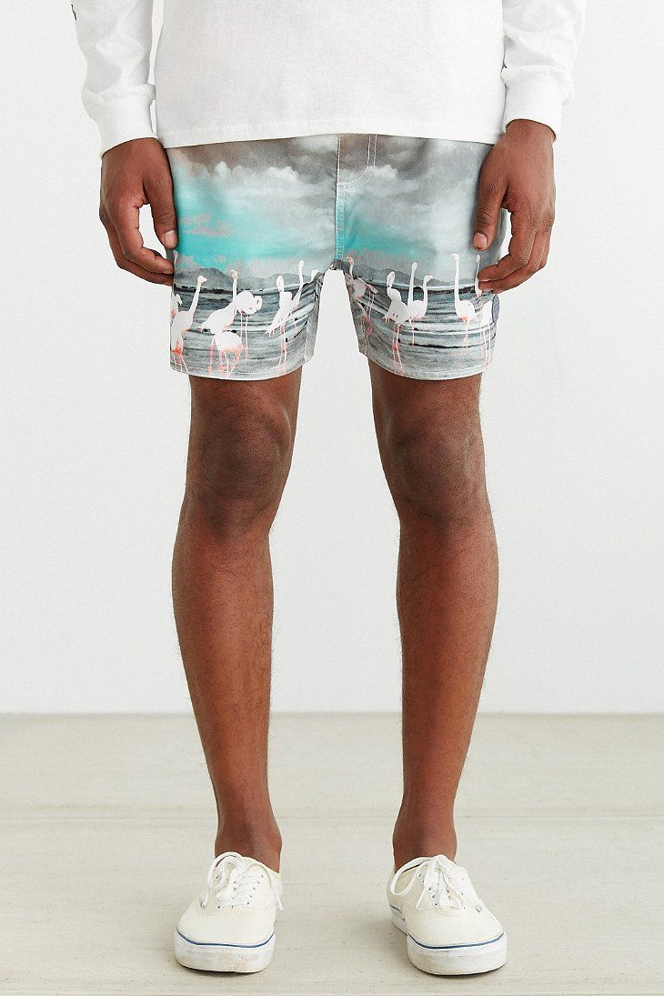 Native Youth Flamingo Print Swim Short - Urban Outfitters
