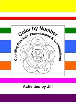 Need+a+different+sort+of+assignment+for+a+change+of+pace?++Middle+and+high+school+students+enjoy+color+by+number+worksheets.++Maybe+this+is+because+they+don't+get+to+color+much+after+elementary+school?++If+you've+never+used+this+type+of+assignment+before,+give+it+a+try!This+activity+consists+of+11+word+problems+to+be+solved+using+the+counting+principle,+permutation+formula,+or+combination+formula.