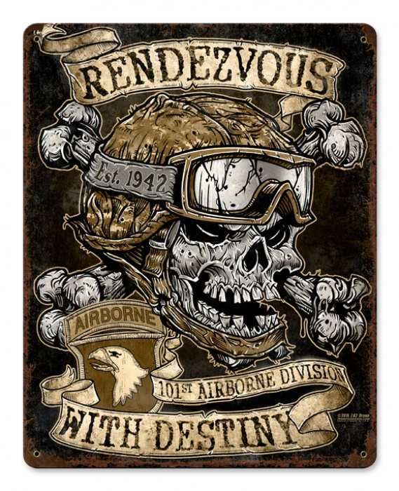 Vintage Rendezvous with Destiny Metal Sign 11 x 14 Inches