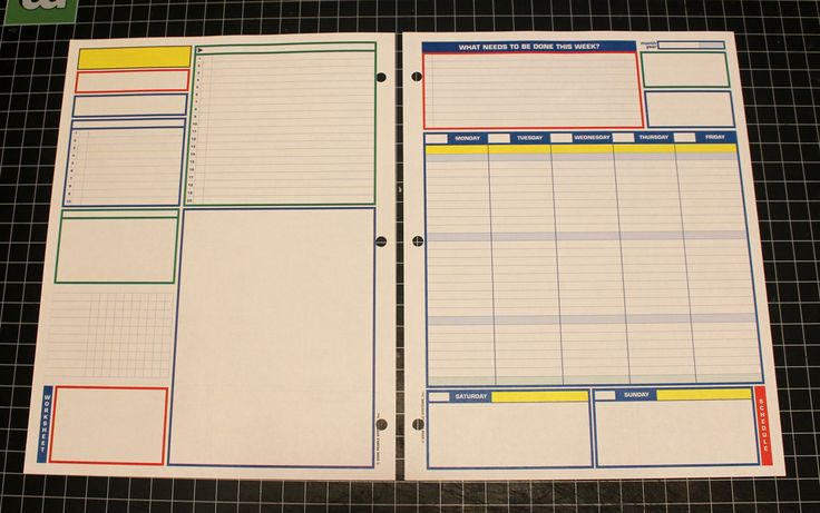 original uncalendar weekly layout