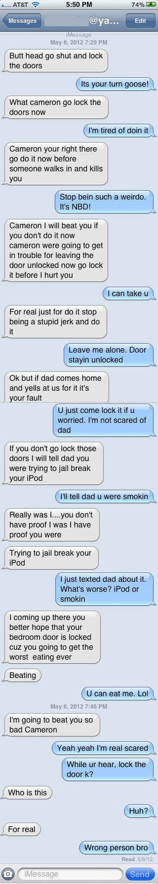 The Pretend You're Someone's Little Brother Approach: | 26 Absolutely Perfect Ways To Respond To A Wrong Number Text: