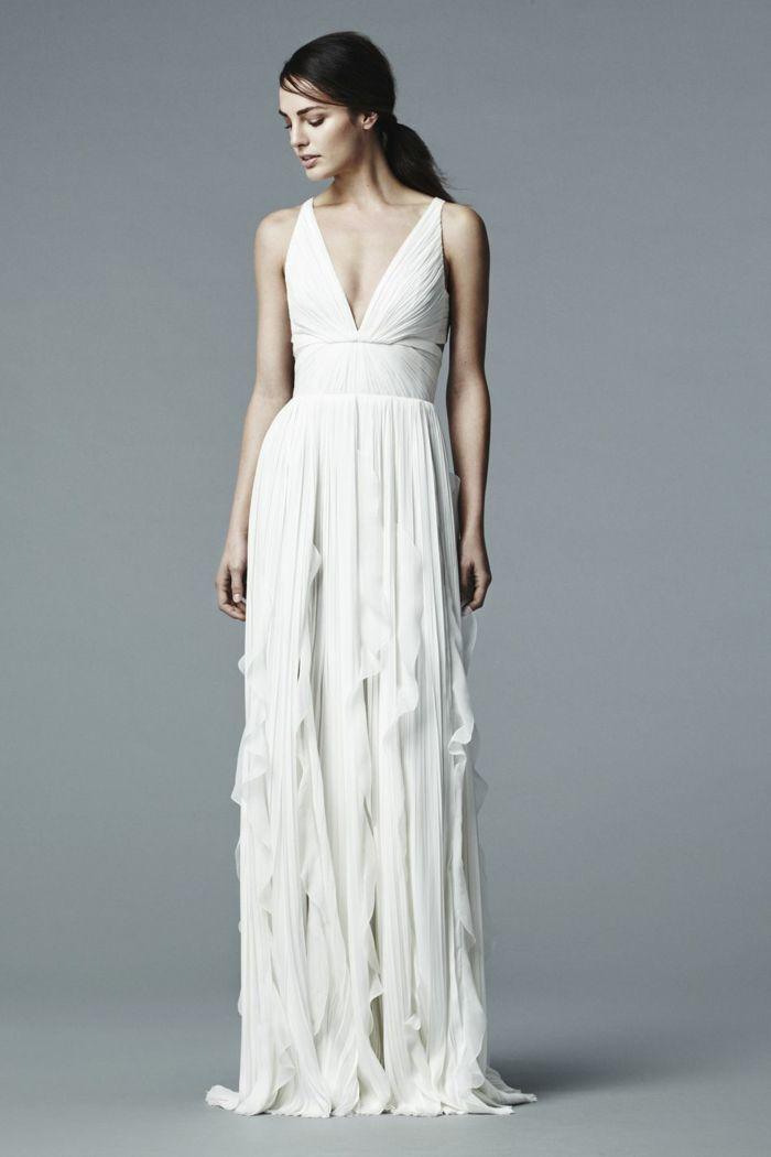 Vestido de novia color blanco roto
