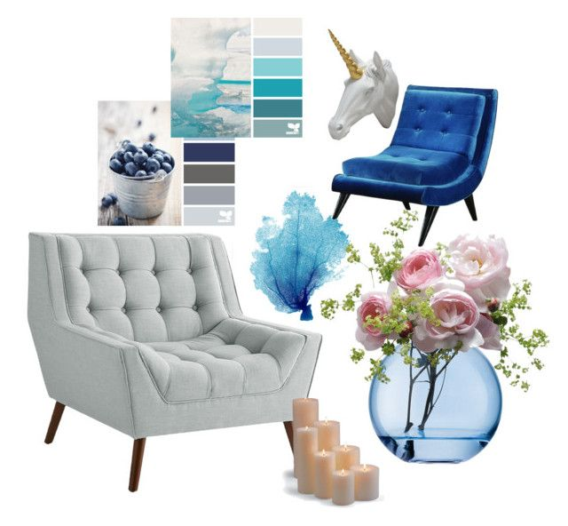 """""""Blue Shades... Home"""" by stylelovermoun on Polyvore featuring interior, interiors, interior design, home, home decor, interior decorating, Pier 1 Imports, Bobby Berk Home, LSA International and Armen Living"""