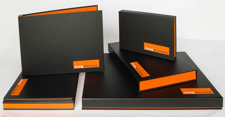 Presentation portfolio boxes and folders bespoke to Perth outdoor living company.