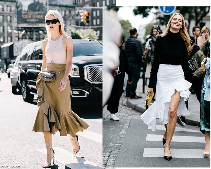 La compra de la semana: falda midi con volantes
