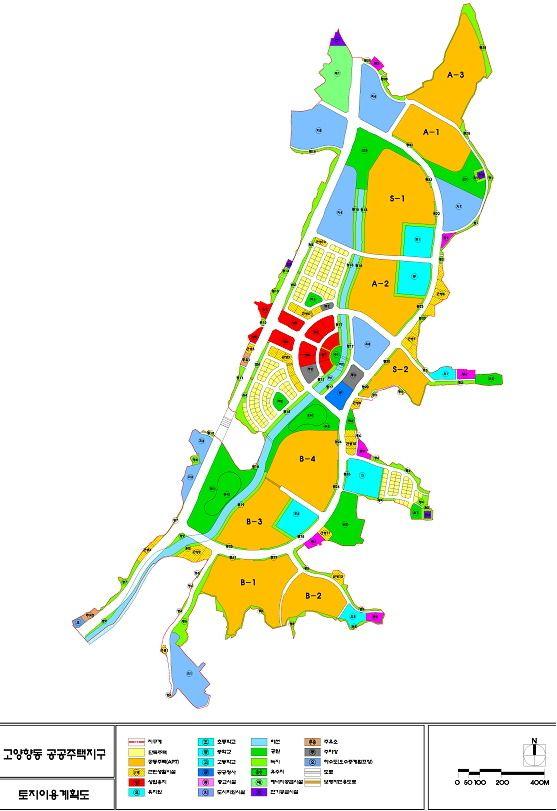 고양향동보금자리주택개발사업 토지이용계획도.jpg