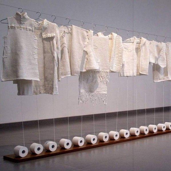 Knitting Toilet Paper by Wang Lei 2010
